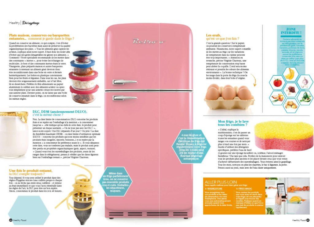 mon frigo zéro défaut ^^! healthy food magazine mars avril 2017